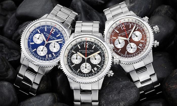 Stuhrling Original Men S Staunless Steel Monaco Chronograph Dress