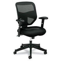 - VL531 Series High-Back Work Chair, Mesh Back, Padded Mesh Seat, Black