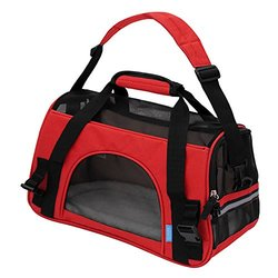 OxGord Soft-Sided Airline-Approved Travel Cat Carrier Bag - Red - Size: L