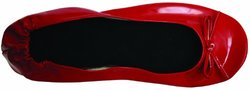 Bendables folding Ballet Flats - Red - Size: 9/10