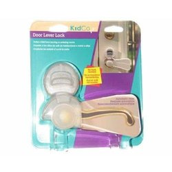 KidCo Kid-S353C Clear Door Lever Lock Child Safety