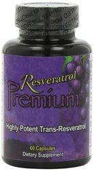 Resveratrol 1000mg Premium Highly Potent Trans-Resveratrol - 60 Capsules