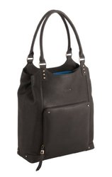 "Solo VTA802 Ladies Leather Bucket Tote for Laptops up to 15.4"" Espresso"