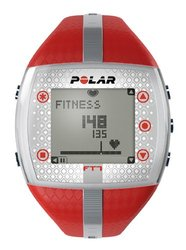 Polar FT7 Women's Heart Rate Monitor Watch Red/Silver